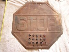 Antique Stop Sign with Red Marbles