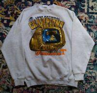 Vintage 1998 Tennessee Vols National Championship Crewneck Sweatshirt Size XL