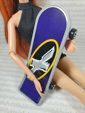 SPORTS ~ BARBIE DOLL EXTREME 360  BLUE GRAY SKATEBOARD ACCESSORY FOR DIORAMA