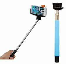 WIRELESS MOBILE PHONE MONOPOD SELFIE STICK- MODEL Z07-5 BLUE COLOR