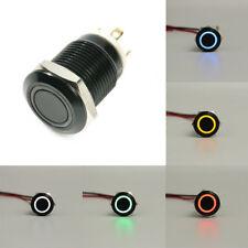 12mm 12 V LED Power Druckschalter Taste Momentary Latching Metall Wasserdicht