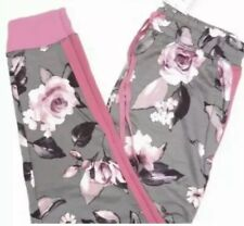 LuLaRoe JAX Breast Cancer Awareness Pink 2XL 2019 Floral Roses Gray BCA HTF Grey