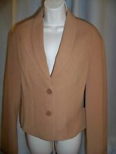 L.A.M.B. GWEN STEFANI CAMEL WELL TAILORED LINED CLASSIC BLAZER 8 NWT GORGEOUS