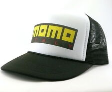 Momo Trucker Hat mesh hat snap back hat black new adjustable Italy race hat
