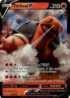 Pokemon TCG Card - Torkoal V 24/202 - Ultra Rare Holo - Mint NM