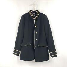ZARA Military Style Blazer Jacket Black XS NWT