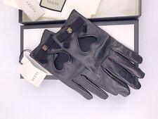 Neu Luxury Original GUCCI Damen Handschuhe-477970- Leder Große-8,5-L