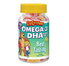 L'IL CRITTERS OMEGA-3 DHA FOR KIDS 180 GUMMY FISH - COD FREE SHIPPING