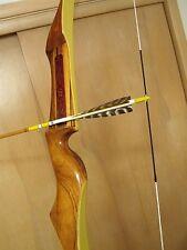 """Vintage 1967 Bear Archery Polar RH Recurve Target Bow 40 lbs. 66"""" **Zebrawood"""