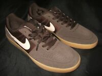 Nike Mens SB Team Classic Baroque Brown Pink Suede nylon Skater Board Shoes New