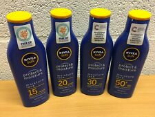 NIVEA SUN PROTECT & MOISTURE SPF 15, 20, 30 OR 50+ 200ml SUN LOTION NEW