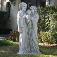 Ky112448 - The Holy Family Sculpture - Estate Size - Antique Stone Finish!