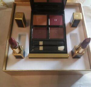 Tom Ford Iconic Set Burnished Amber Eyeshadow Palette, Casablanca Scarlet Rouge