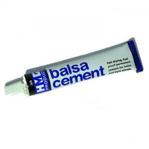 HMG Balsa Cement 24ml Tube - Fine Applicator - Softwoods, Cork, Balsa