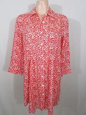Gordon Smith Cotton Shirt Size 10 | Coral & White Polka Dots