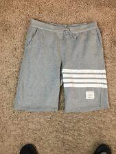 Thom Browne New York Sweat Shorts White Stripes Gray Size 4