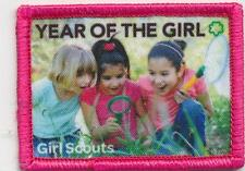 Girl SCOUT YEAR OF THE GIRL Fun Patches Crests Badges GUIDE girls adventures