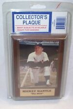 """Mickey Mantle """"The Mick"""" Plaque 4"""" X 6"""" New in package"""