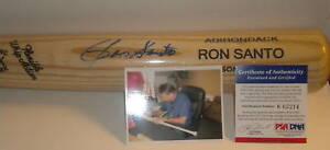 Ron Santo Chicago Cubs White Sox Autographed Signed Bat Pro Model PSA/DNA
