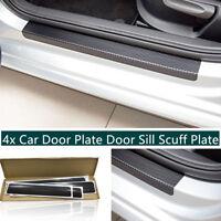 4PCS/SET 3D Carbon Fiber Type DOOR SILL SCUFF PLATE Sticker 60*6.8cm+40*6.8cm