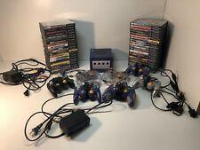 Nintendo Gamecube Super Bundle Indigo Purple 42 Games 7 Controllers Wow
