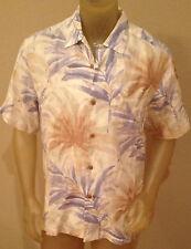NWT $110 Tommy Bahama LA DOLCE PALMA Dusty Marina LINEN Camp Shirt Mens Medium M