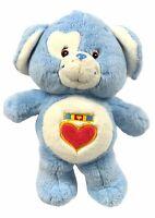 """2004 CARE BEAR COUSINS LOYAL HEART DOG 13"""" SOFT PLUSH BLUE PUPPY DOG-RARE"""