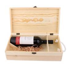 Weinschachtel Geschenkverpackung Wein Holzkiste für 2 Flaschen 35x19x10cm