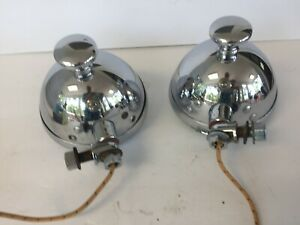 NOS PAIR PACKARD COWL LIGHTS, WORKING S&M LAMP CO. NO. 76, CADILLAC LINCOLN