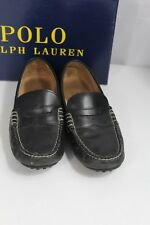 Polo Ralph Lauren US 7.5 D Men Shoes Wes Casual Driving Leather Loafers Black