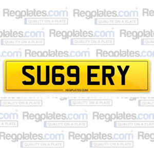 SU69 ERY - Cherished Car Number Personalised Reg Private Plate SURGERY DOCTOR