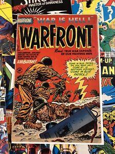Warfront #7 VG- 3.5 harvey comics USA america 10c GOLDEN AGE war is hell 1952