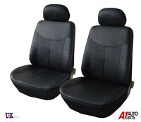1+1 FRONT LEATHERETTE BLACK SEAT COVERS FOR RENAULT MASTER TRAFIC NEW