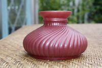 Vintage Burgundy Swirl  Student Glass Lamp Shade