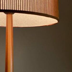 Vintage Mel Smilow Walnut + Beech Floor Lamp