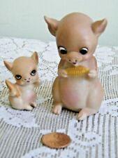 Vintage Josef Originals Adorable Miniature Pig & Piglet with Corn Cob w/ Labels