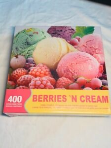 "SPRINGBOK ~BERRIES 'N CREAM ~400 PIECE FAMILY PUZZLE 26.75"" X 20.5"" NEW"