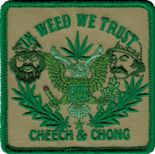 58013 Cheech & Chong In Weed We Trust Pot MJ Hemp 420 Embroidered Iron On Patch