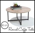 INDUSTRIAL COFFEE TABLE WOODEN ROUND MODERN METAL CONTEMPORARY STYLE