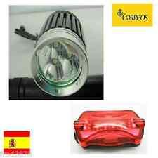 FARO FOCO LUZ LED 3*CREE XM-L T6 3800LM CICLISMO BICICLETA JUEGO FRONTAL TRASERO