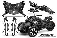 CAN-AM BRP SPYDER F3 GRAPHICS KIT CREATORX DECALS SPIDERX SILVER