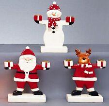 Premier Decorazioni Natale Ceramica Portacandele Babbo Renna Pupazzo Nuovo
