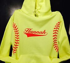 Softball Fastpitch Hoodie Personalize With Name New