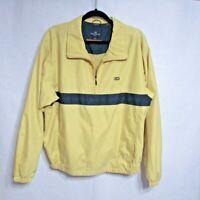 Dockers Men's 1/2 Zip Pullover Wind Breaker Golf Jacket Yellow Size M
