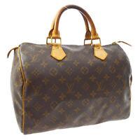 LOUIS VUITTON SPEEDY 30 HAND BAG PURSE MONOGRAM CANVAS M41526 TH1010 A54349