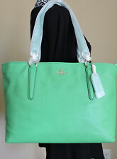 Coach 33961 Bright Green Chicago Ellis Soft Pebbled Leather Tote Shopper  NWT