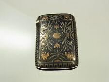 Wunderschönes antikes Streichholzetui Tulasilber und Gold Österreich ? um 1870