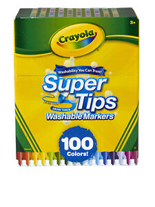 Crayola Super Tips Washable Markers, 100 Assorted Colors