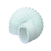 """6m x 100mm / 4""""  PVC Flexible Ducting - Tumble Dryer Hose - Extractor Fexi Pipe"""
