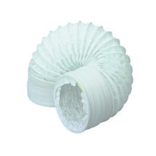 "6m x 100mm / 4""  PVC Flexible Ducting - Tumble Dryer Hose - Extractor Fexi Pipe"